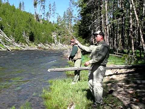 Fishing the Gibbon River at Yellowstone National Park