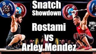 Arley Mendez vs Kianoush Rostami Snatch Showdown - Mens 85kg - 2017 weightlifting world championship