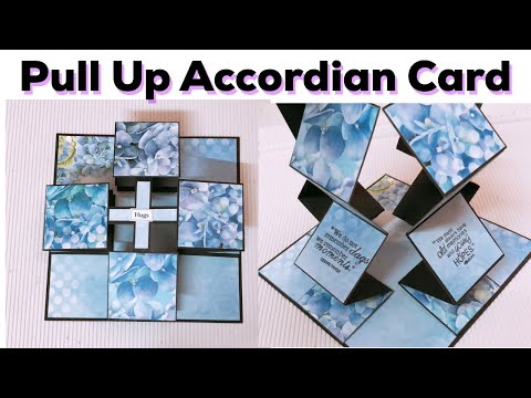 How to make pull up accordian card/ DIY pull up accordian card