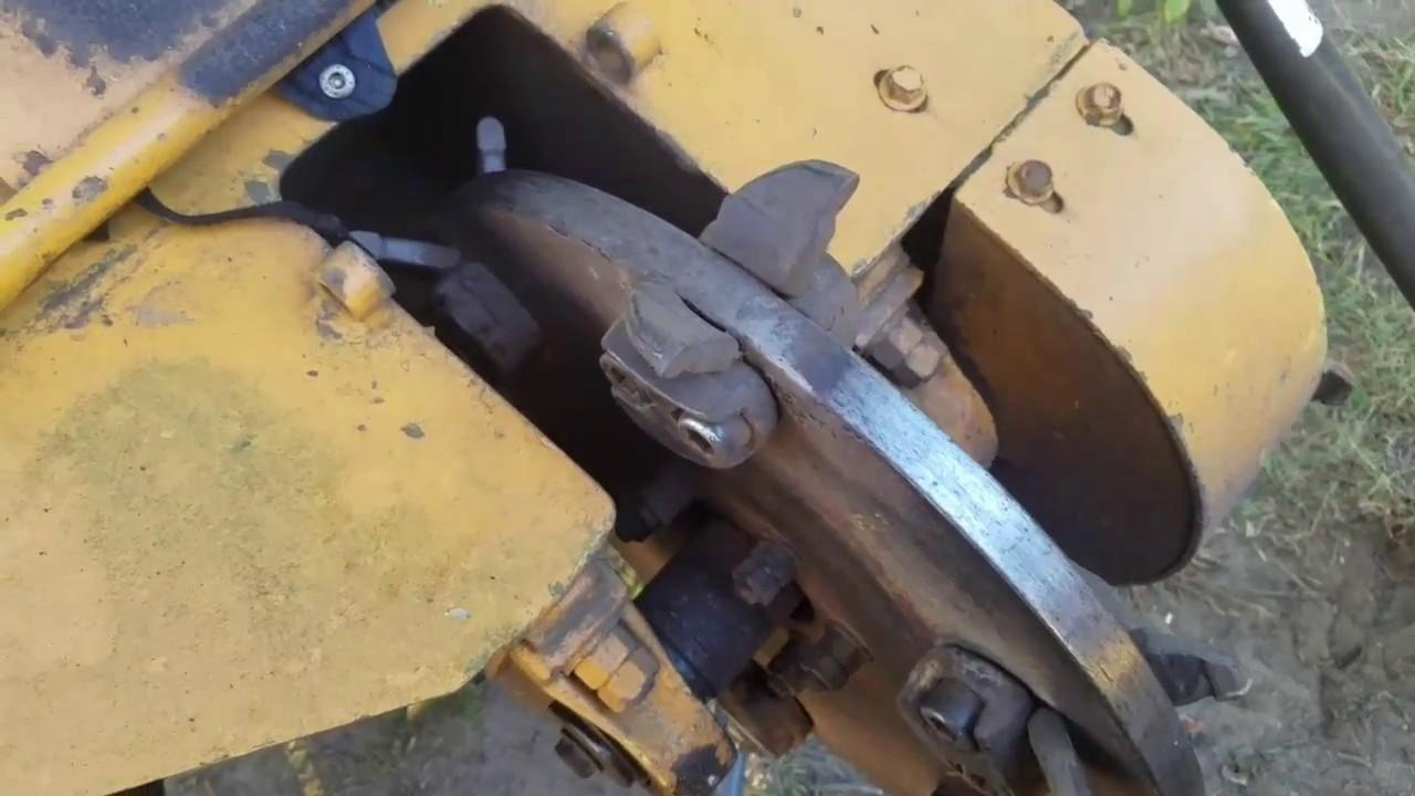 Vermeer 630b Stump Grinder Teeth Swap Youtube