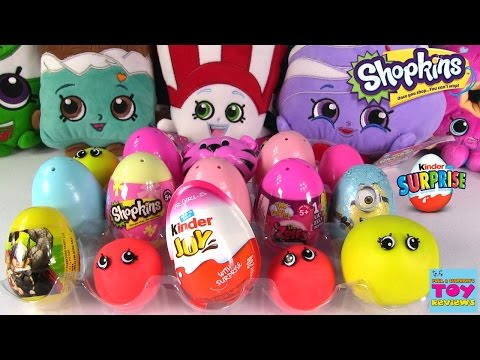 Thumbnail: EggAPalooza #8 Surprise Egg Opening | Shopkins Kinder Surprise Play-Doh | PSToyReviews