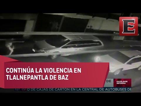 Imágenes de robo a mano armada en Tlalnepantla de Baz