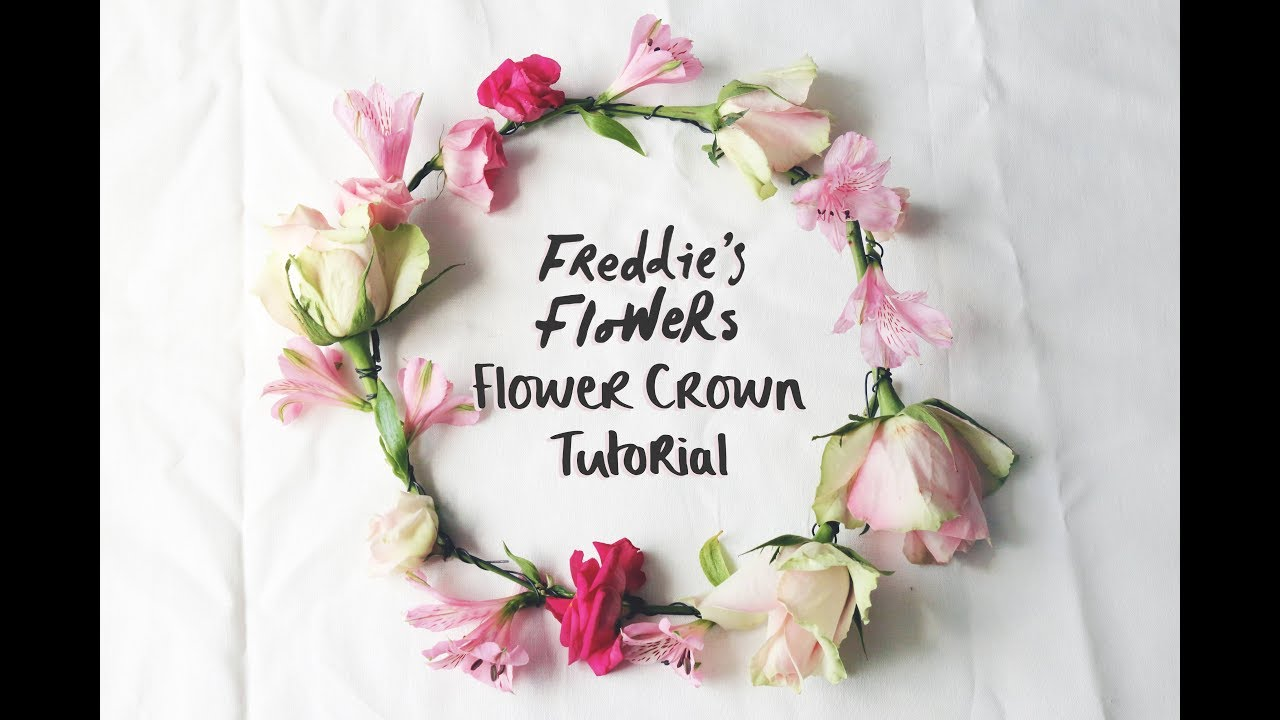 How To Make A Flower Crown Youtube