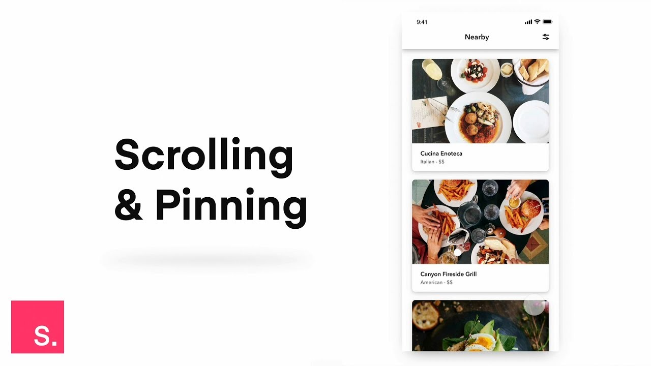 InVision Studio quick tip: Scrolling and pinning