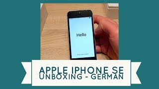 Alles beim Alten! - iPhone SE Unboxing German