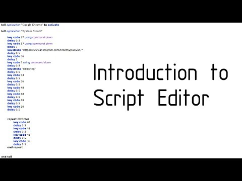 An Introduction To Apple Script For Noobs