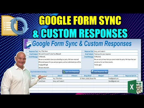 How To Sync Google Forms To Excel and Automatically Send Custom Email Responses