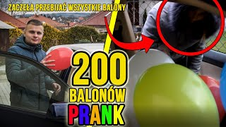 PRANK 200 BALONÓW W AUCIE MOJEJ DZIEWCZYNY