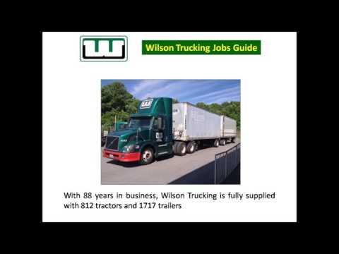 Wilson Trucking Jobs