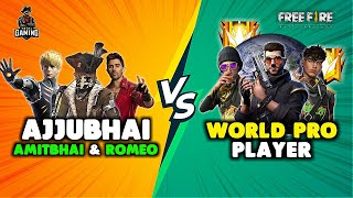 Ajjubhai and Desi Gamers vs World Pro Player Punkster Runner Bundle Gameplay - Garena Free Fire