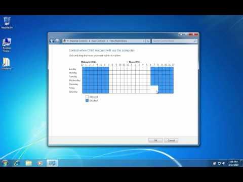 Setting Parental Controls In Windows 7