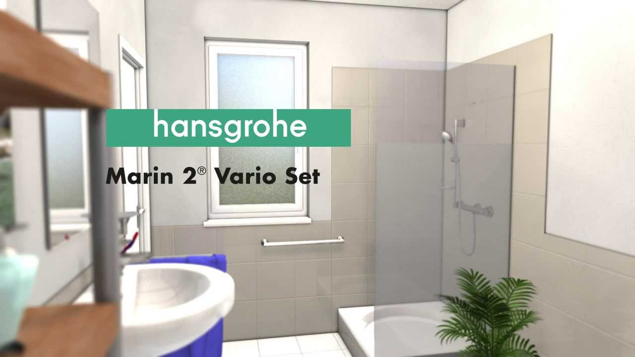 How to mount the Marin² Vario shower set of Hansgrohe - YouTube