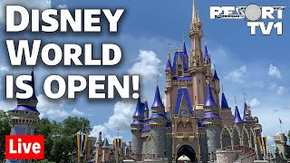 🔴Live: DISNEY WORLD IS OPEN!!  Magic Kingdom Reopening Day Live Stream | Walt Disney World