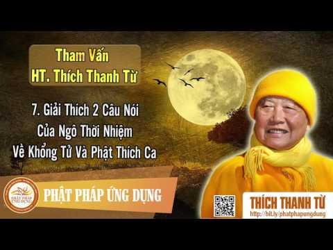 Giải Thích 2 Câu Nói Của Ngô Thời Nhiệm Về Khổng Tử Và Phật Thích Ca - Tham vấn HT Thanh Từ 7
