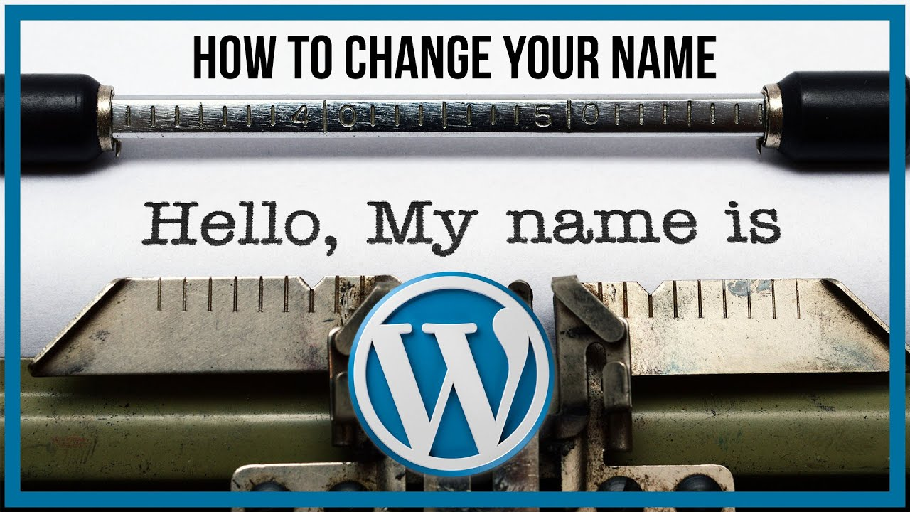 wordpress how to change your domain name