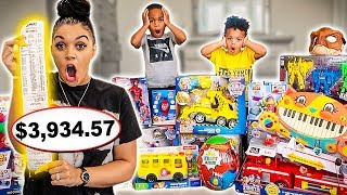 Buying EVERYTHING DJ & KYRIE Touches Blindfolded!!