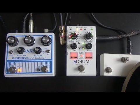 DigiTech SDRUM featuring DOD Rubberneck analog delay