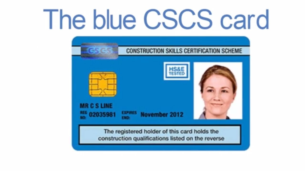 The blue CSCS card - YouTube