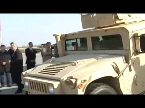 President Poroshenko gets military Humvees from US