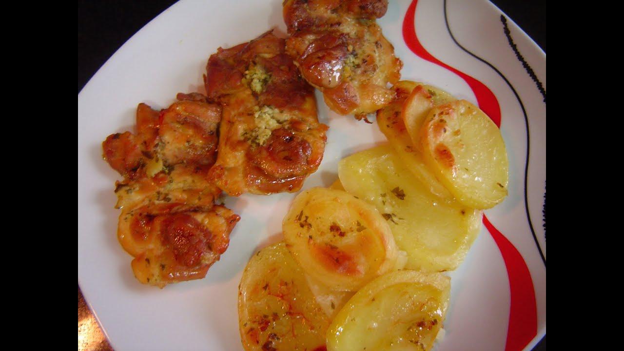 Pollo al horno con patatas cocina f cil youtube for Como cocinar filetes de pollo