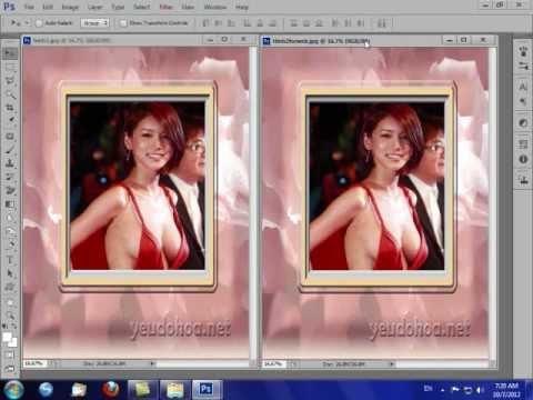 Photoshop CS6 Chèn Ảnh vào Khung Đơn Giản