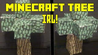 How to make a Minecraft Tree in real life!! Papercraft tutorial
