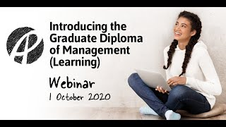 Introducing APC's new Graduate Diploma of Management (Learning)