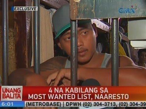 UB: 4 na kabilang sa most wanted list, naaresto sa Pasig