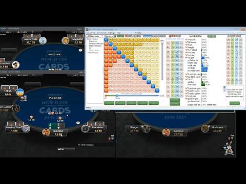 Обучающее видео по SnG. Разбор игровой сессии на Party poker  5$-20$.