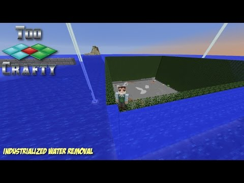 How to build a guardian farm in Minecraft (Part 3: Water Removal) - TooCrafty SMP E34