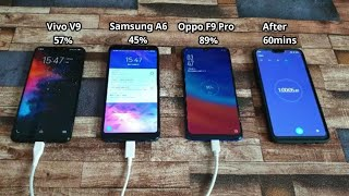 Download Video Oppo F9 Pro VS Vivo V9 Vs Galaxy A6 Plus - Oppo F9 Pro VOOC Flash Charging Test , Oppo VOOC Charge MP3 3GP MP4