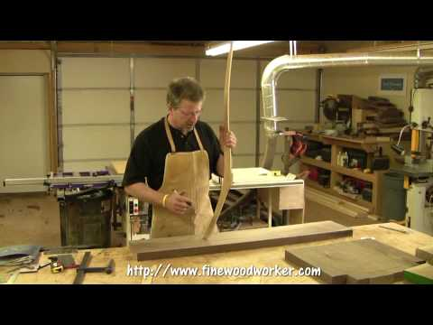 Building a Simple Rocking Chair - making the rear legs