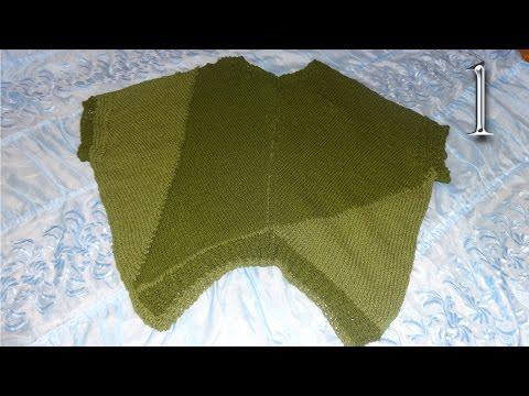 Как связать пуловер с рукавом летучая мышь