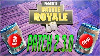 HUGE FORTNITE UPDATE! NEW CHUG JUG! NEW AUTO SPRINT!| FORTNITE PATCH 2.3.0