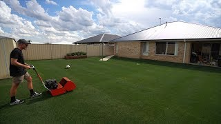 """Taking My Lawn From 18mm-12mm (1/2"""") // Reel Low Perennial Ryegrass"""