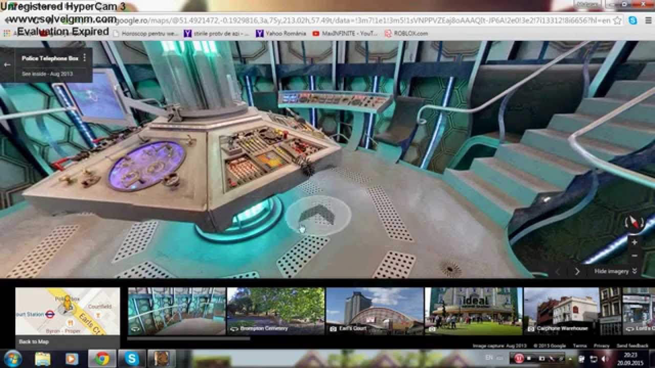 Google Maps Doctor Who Inside The Tardis! - YouTube on