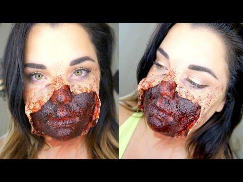 Torn Face SFX   |  HALLOWEEN MAKEUP TUTORIAL thumbnail