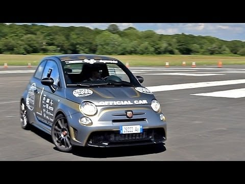 Abarth 695 Biposto HOT Lap Around Top Gear Test Track - YouTube