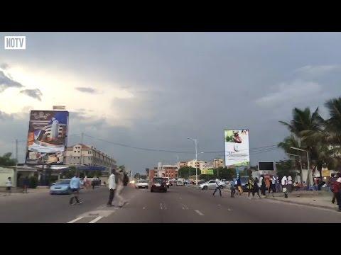 Driving through Kinshasa at Night
