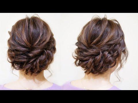 ☆かわいいシニヨンのヘアアレンジ!中級レベル!bun-hairstyle-updo-tutorial-wedding-prom-hairstyles-for-long-hair