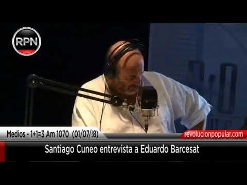 Santiago Cuneo entrevista a Eduardo Barcesat en Radio el mundo Am 1070