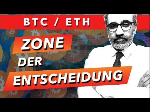 Bitcoin, Ethereum: Entscheidungszone - Nachtrag zu gestern