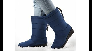 Женские теплые зимние сапоги на танкетке women warm winter boots with a wedge heel
