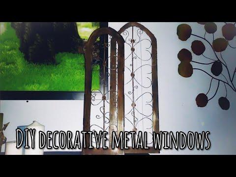 Dollar tree DIY farmhouse style metal design windowss