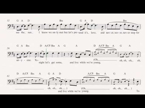 Trombone - Live While We\'re Young - One Direction - Sheet Music ...