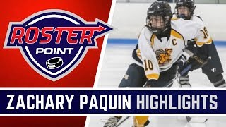 Zach Paquin Highlights | Forward | Roster Point Hockey Member