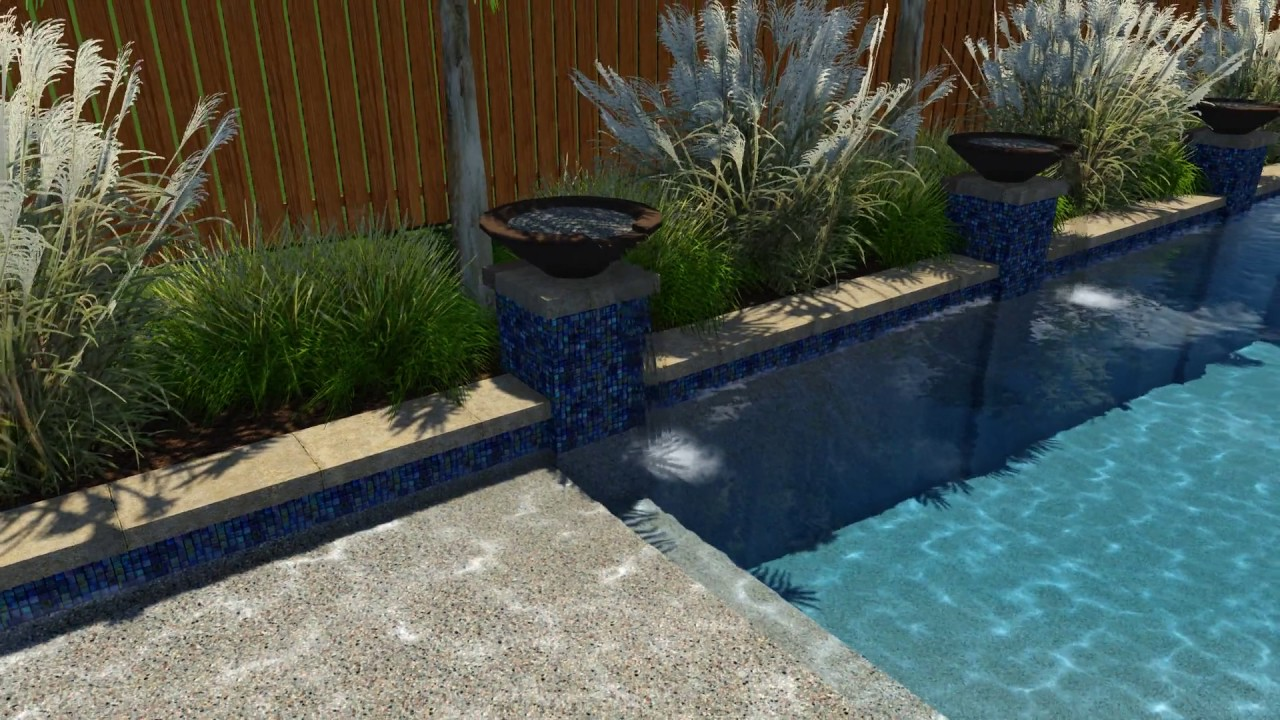 Blanchard Pool Design by Backyard Amenities - YouTube