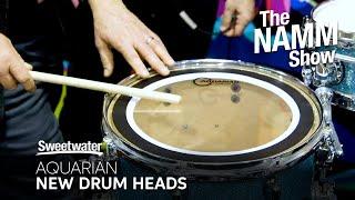 Aquarian Drumheads Booth Visit at Winter NAMM 2020