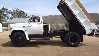 startup and dump on dump truck
