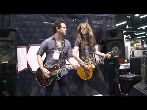 NAMM 2012. Age of Evil with the Krank Amps. Krank Booth